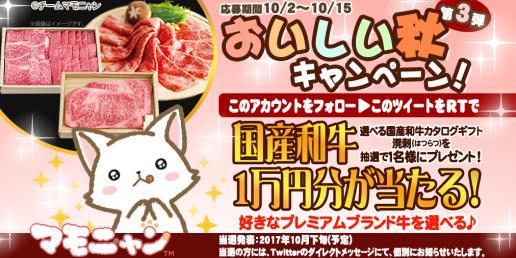 マモニャン おいしい秋キャンペーン 第3弾