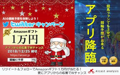 Amazonギフト1万円分が当たる!競輪AIキャンペーン