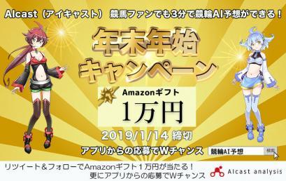 年末年始Amazonギフト1万円分が当たる!キャンペーン