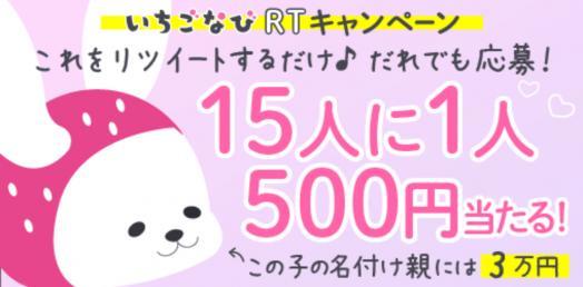 RTで15人に1人500円キャンペーン