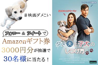 映画『ダメ夫と子犬のしつけ方』発売記念キャンペーン