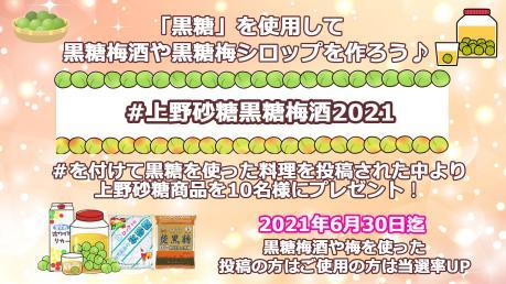 #上野砂糖黒糖梅酒2021